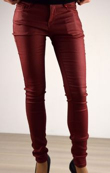 Стилен дамски есенно - зимен панталон - 041 - бордо