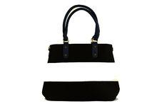 Цветна дамска чанта - TRICOLOR - черна