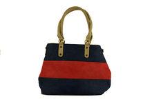 Цветна дамска чанта - TRICOLOR - тъмно синя