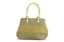 Цветна дамска чанта - TRICOLOR - сива