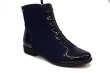 Елегантни дамски боти - 068 - тъмно сини