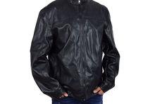 Комфортно кожено мъжко яке - 1105 - черно