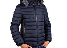 Топло мъжко зимно яке - 1109 - тъмно синьо