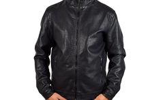 Кожено мъжко яке - 1110 - черно