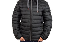 Мъжко зимно яке големи размери - 1111 - черно