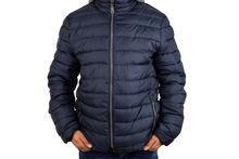 Мъжко зимно яке голям размер - 1111 - тъмно синьо