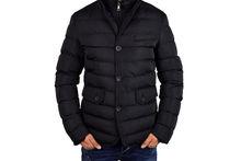 Елегантно мъжко зимно яке - 1112 - черно