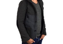 Елегантно мъжко яке тип сако - тъмно сиво