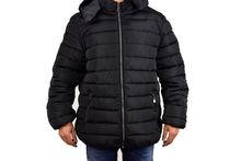 Зимно мъжко яке големи размери - 1121 - черно