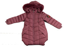 Страхотно детско зимно яке - 8115 - лилаво от 4 до 12 годишни