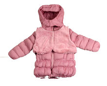 Уникално детско зимно яке с елек - 8117 - светло розово  от 3 до 7 г.
