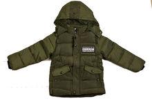 Модно зимно яке за момчета - 9003 - тъмно зелено от 4 до 12 г.