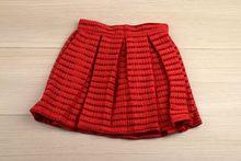 Модна детска пола - червена за 4, 8, 14 годишни