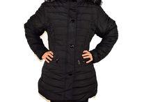 Дамско зимно яке модел в големи размери - черно