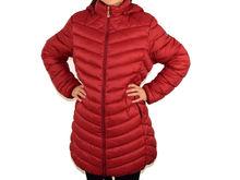 Свежо зимно дамско яке до 5XL - 1614 - светло бордо