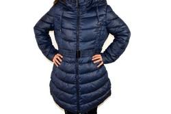 Зимно дамско яке модел до размери 56 - тъмно синьо
