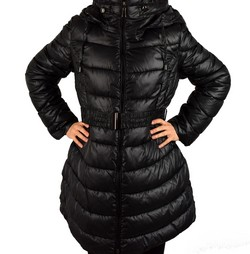 Зимно дамско яке модел до размери 54 - черно