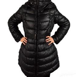 Зимно дамско яке модел до размери 56 - черно