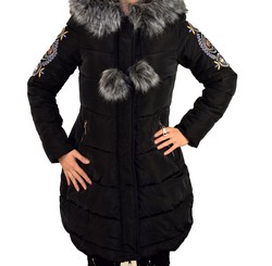Дамско зимно яке - 1621 - черно