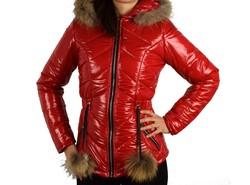 Зимно дамско яке - 1622 - червен лак