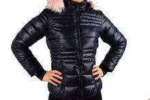 Зимно дамско яке - 1623 - тъмно синьо