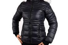 Зимно дамско яке- 1623 - черно с розов пух