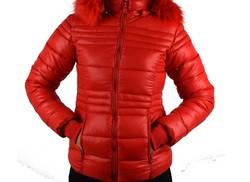 Зимно дамско яке - 1623 - червено