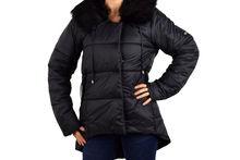 Зимно дамско яке - 1625 - черно  до 4XL