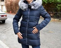 Зимно дамско яке - 1626 - синьо