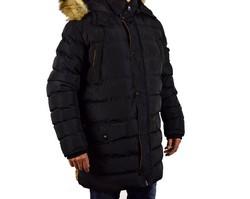 Дълго зимно мъжко яке - 1131 - черно в големи размери