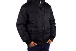 Мъжко зимно яке -1132 - до 6XL черно