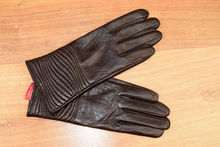 Дамски ръкавици естествена кожа код 024-кафяви