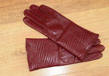 Дамски ръкавици естествена кожа код 024-бордо