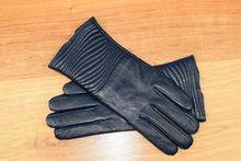Дамски ръкавици естествена кожа код 024-тъмно сини