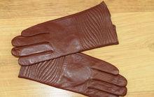 Дамски ръкавици естествена кожа код 024-карамел