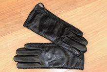 Дамски ръкавици естествена кожа код 025-черни