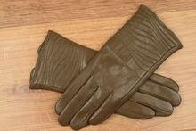 Дамски ръкавици естествена кожа код 024-тъмно бежови