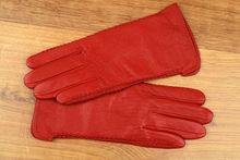 Дамски ръкавици естествена кожа код 025-червено