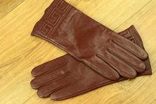 Дамски ръкавици естествена кожа код 026- червеникаво-кафяв