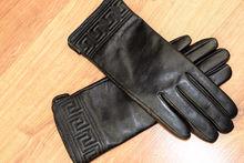 Дамски ръкавици естествена кожа код 026-черно