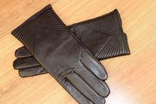 Дамски ръкавици естествена кожа код 027-тъмно кафяви