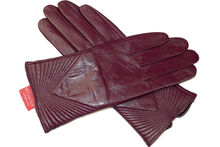 Дамски ръкавици естествена кожа код 027-лилави