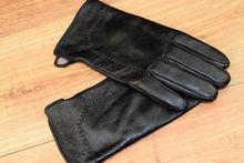Мъжки ръкавици естествена кожа- код 008-черни