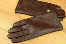 Мъжки ръкавици естествена кожа код 008-тъмно кафяви