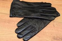Мъжки ръкавици естествена кожа код 009- черни