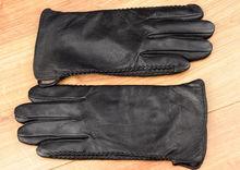 Мъжки ръкавици естествена кожа- код - 010 - черни