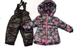 Детски зимен комплект - БГ - за момичета от 1 до 3 годишни