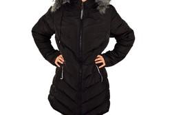 Дълго зимно дамско яке - 1630 - черно
