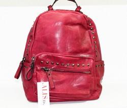 Дамска раница с капси - 9026 - червена