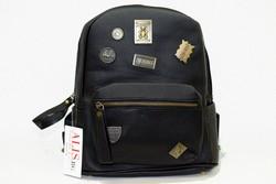 Дамска раница - 9029 - черна с лого